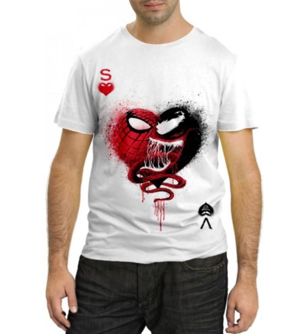 Модная футболка Карта человек-паук