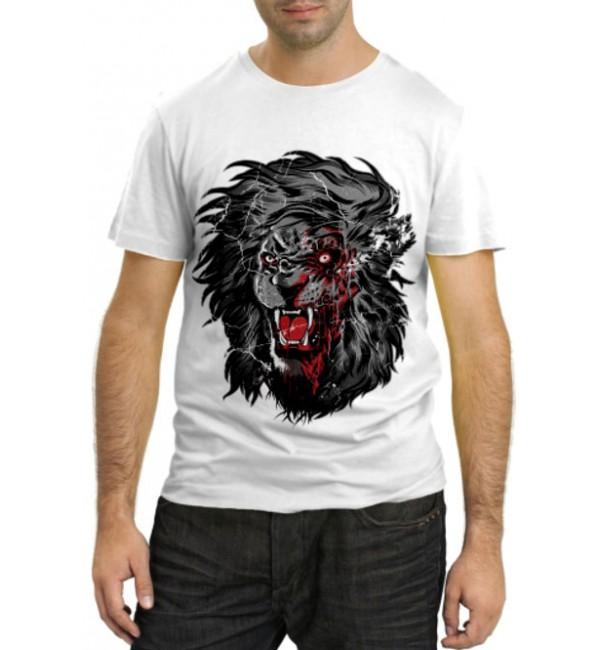 Модная футболка Терминатор Лев