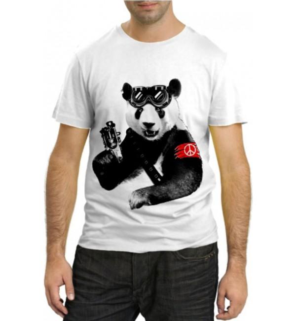 Модная футболка Панда пацифист