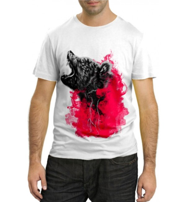 Модная футболка Медведь в ярости