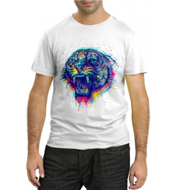 Модная футболка 3D Тигр