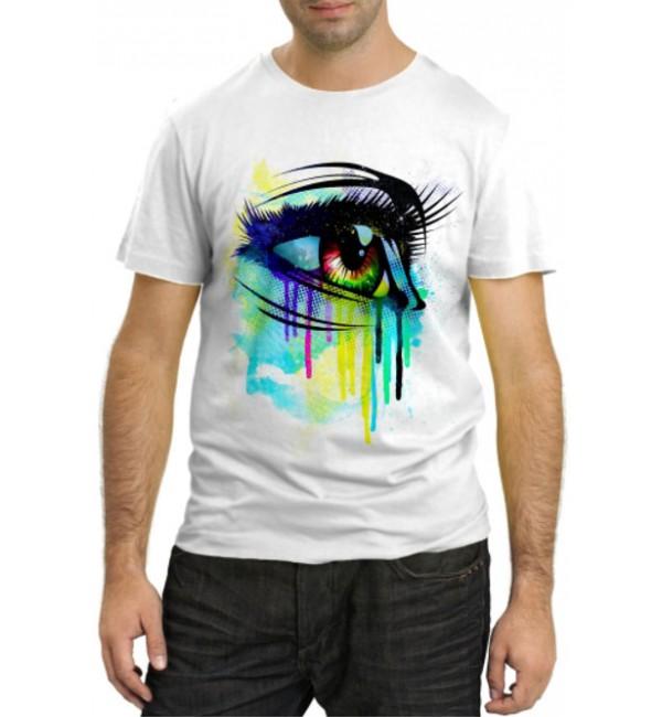 Модная футболка Глаз девушки
