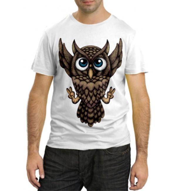 Модная футболка Сова все ОК