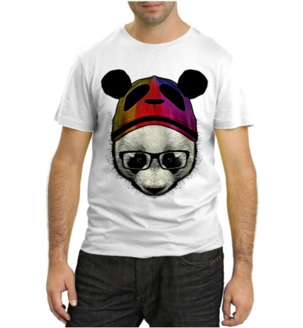 Модная футболка Панда в очках