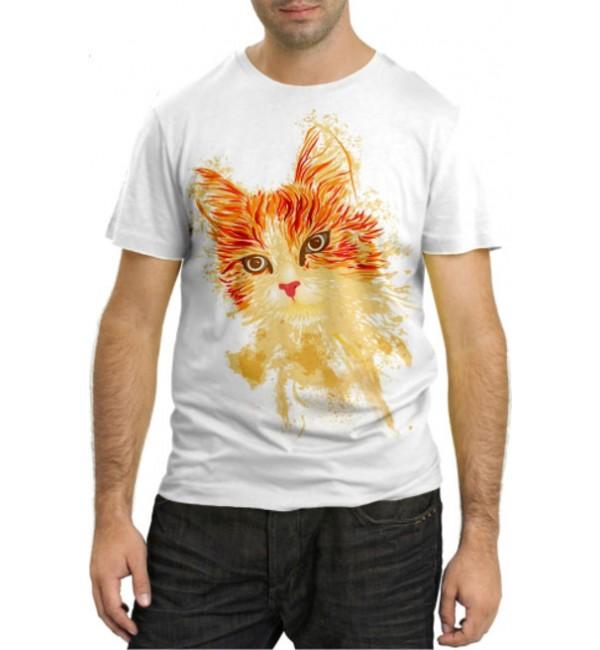 Модная футболка Рыжая кошка