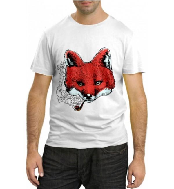 Модная футболка Лиса с трубкой