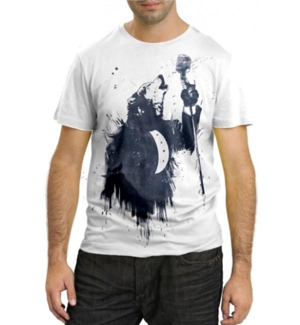 Модная футболка Медведь-певец