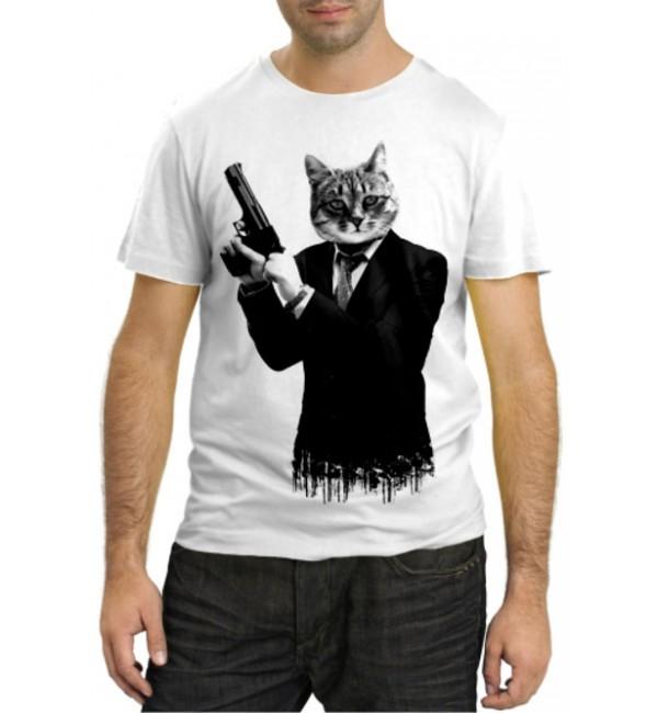 Модная футболка Кот-киллер