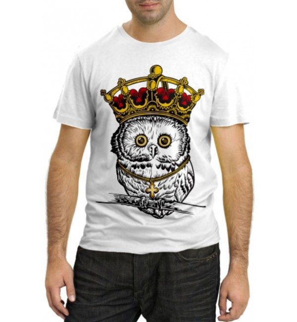 Модная футболка Сова в короне