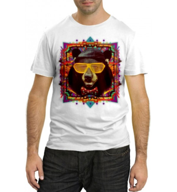 Модная футболка Картина Медведь