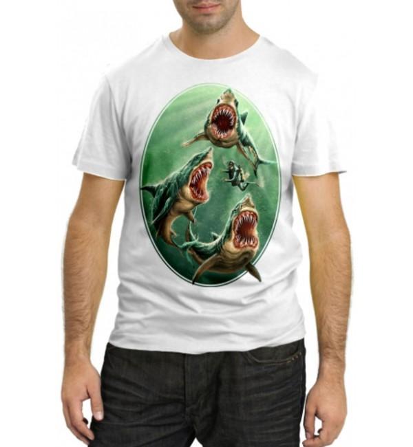 Модная футболка Доисторические акулы