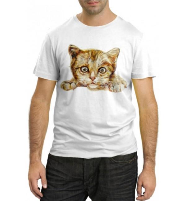Модная футболка Прикольный котенок