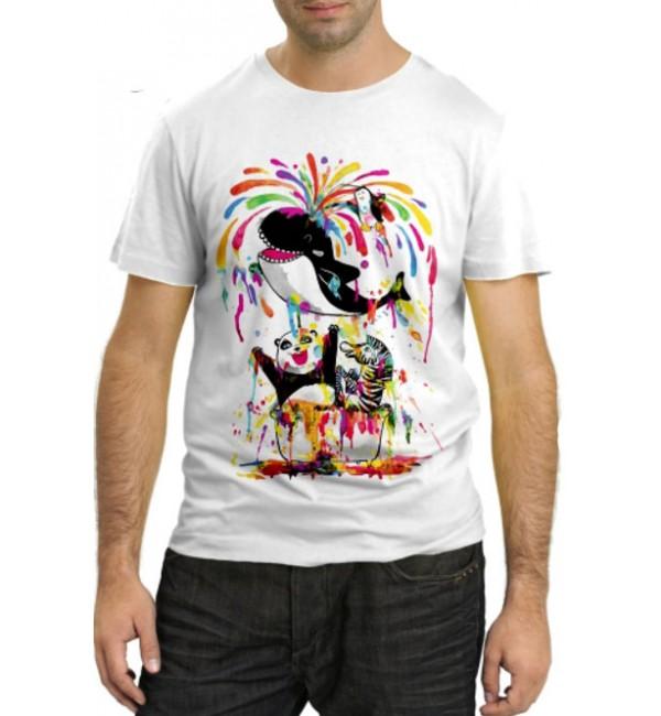 Модная футболка Краски жизни