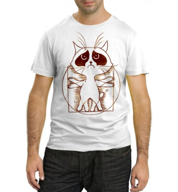 Модная футболка Кот Да Винчи