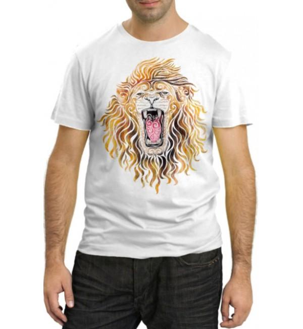 Модная футболка Лев рычит