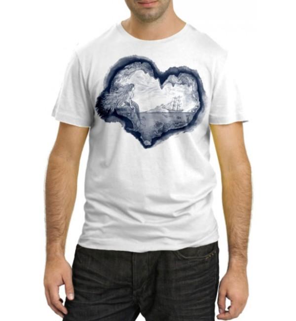 Модная футболка Русалка