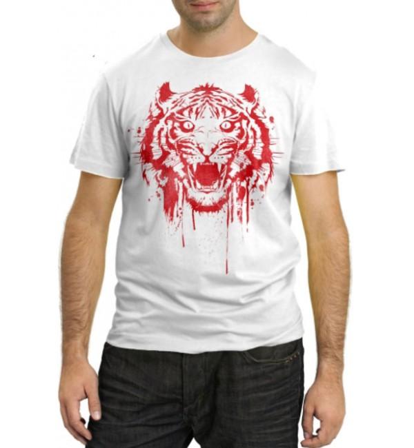 Модная футболка Красный тигр