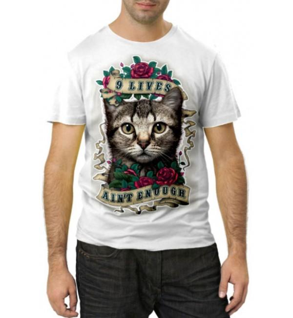 Модная футболка 9 жизней