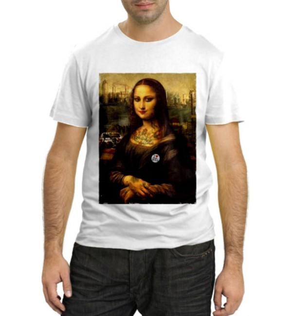 Модная футболка Современная Мона Лиза