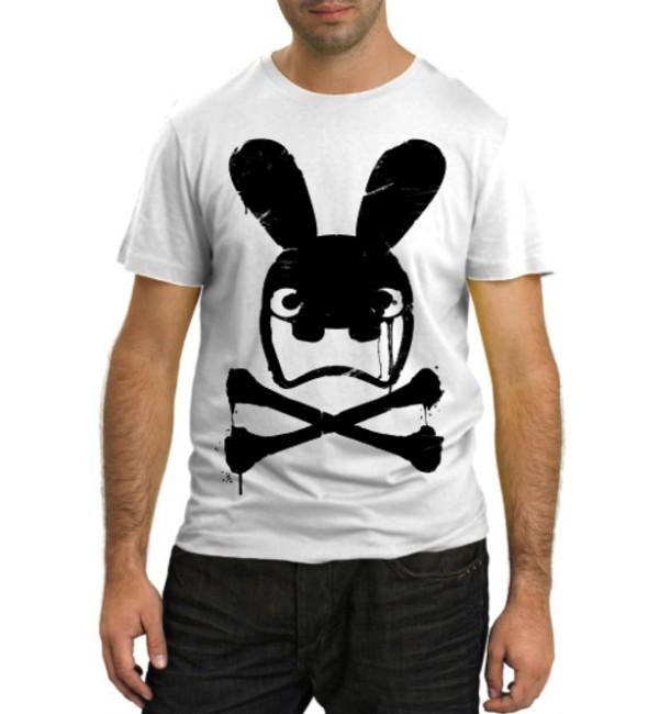 Модная футболка Злой заяц