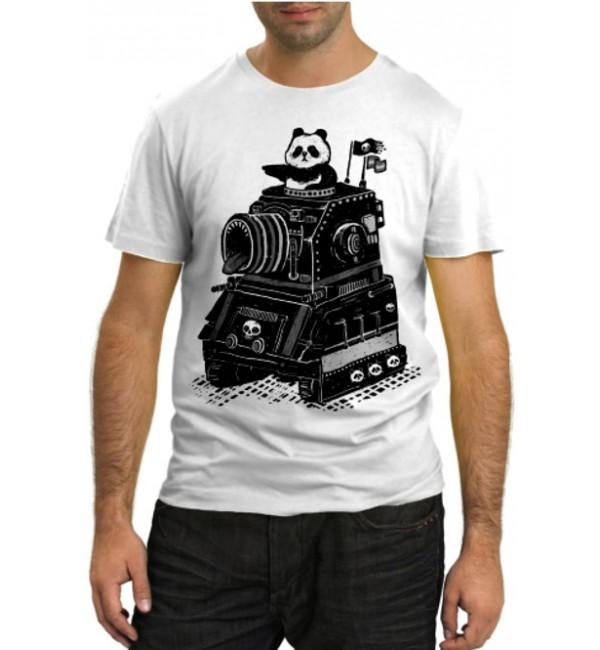 Модная футболка Панда на танке