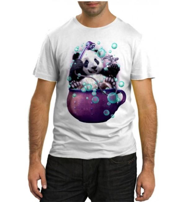 Модная футболка Панда моется