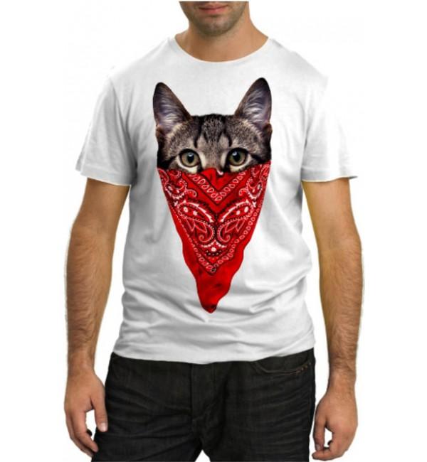 Модная футболка Кот ковбой