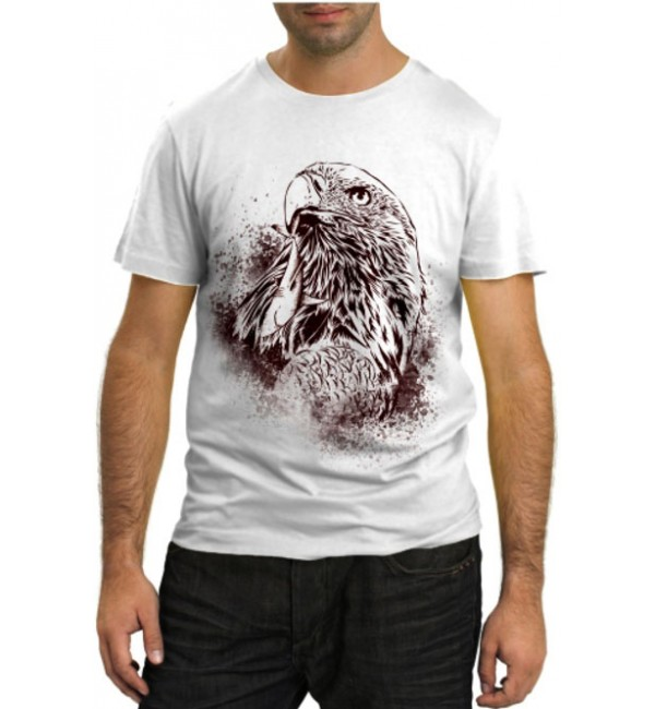 Модная футболка Орел рисунок
