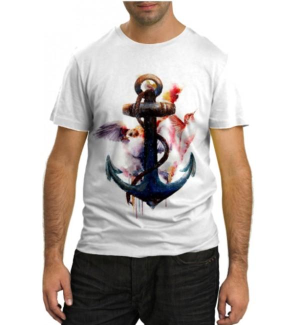 Модная футболка Якорь