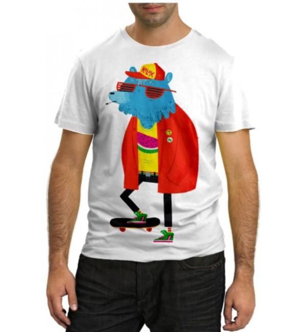 Модная футболка Модный медведь
