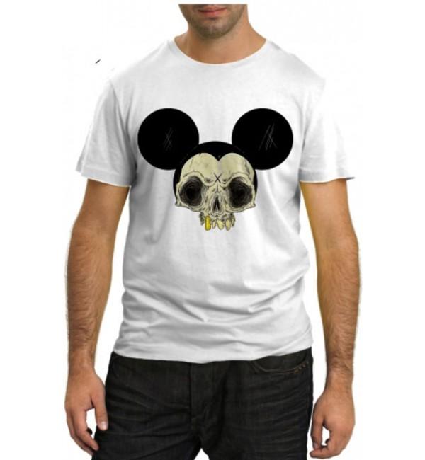 Модная футболка Череп Микки Мауса