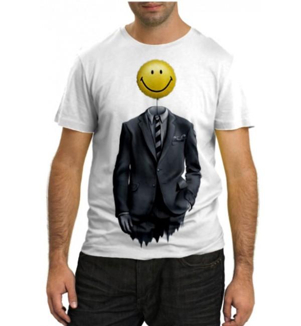 Модная футболка Смайлик