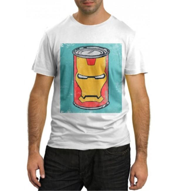 Модная футболка Ironman в банке