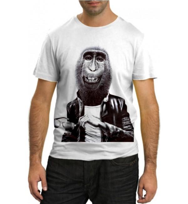 Модная футболка Модная обезьяна