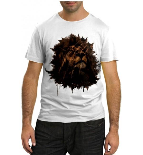 Модная футболка Футуристичный лев