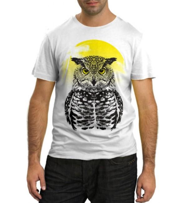 Модная футболка Сова и солнце