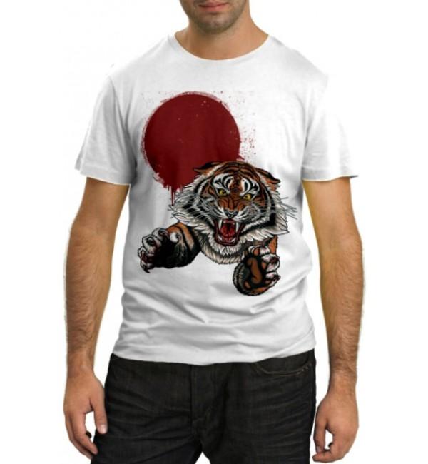 Модная футболка Прыжок тигра
