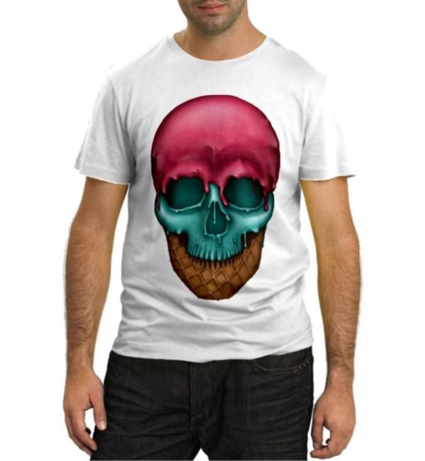 Модная футболка Череп-мороженное