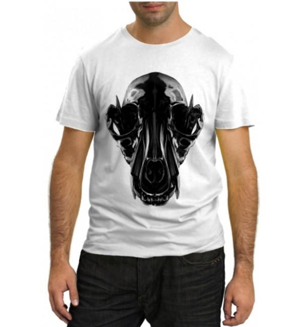 Модная футболка Череп инопланетянина