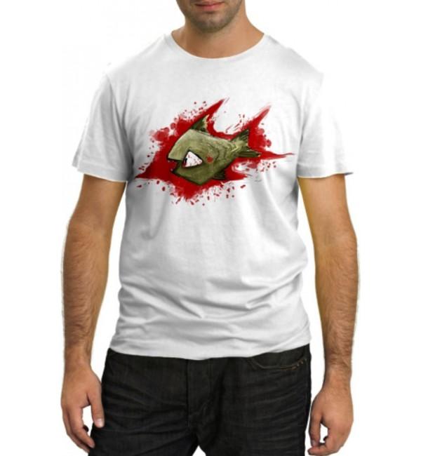 Модная футболка Пиранья