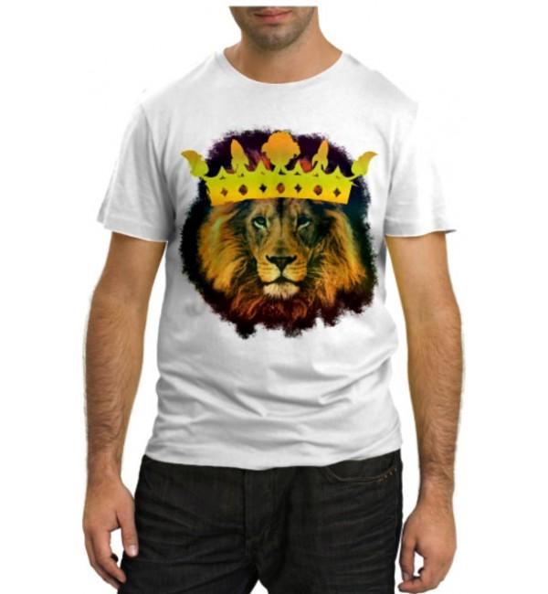 Модная футболка Лев Царь