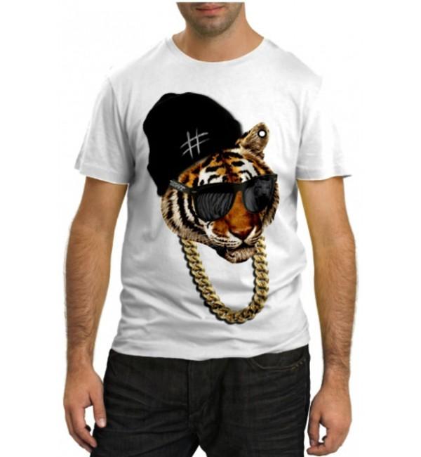 Модная футболка Тигр рэпер