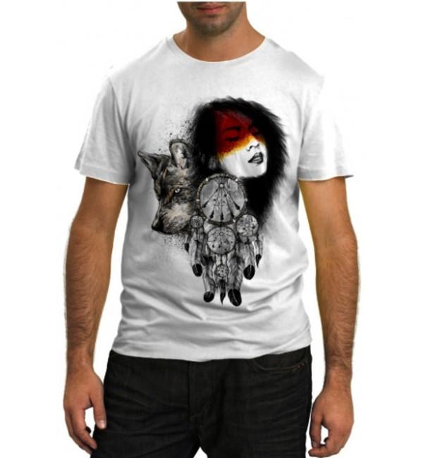 Модная футболка Индейские мотивы