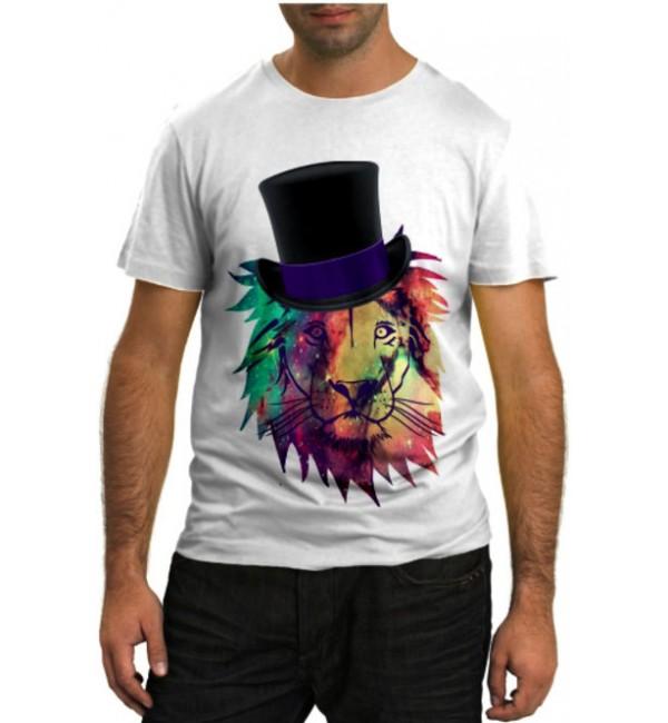 Модная футболка Лев фокусник