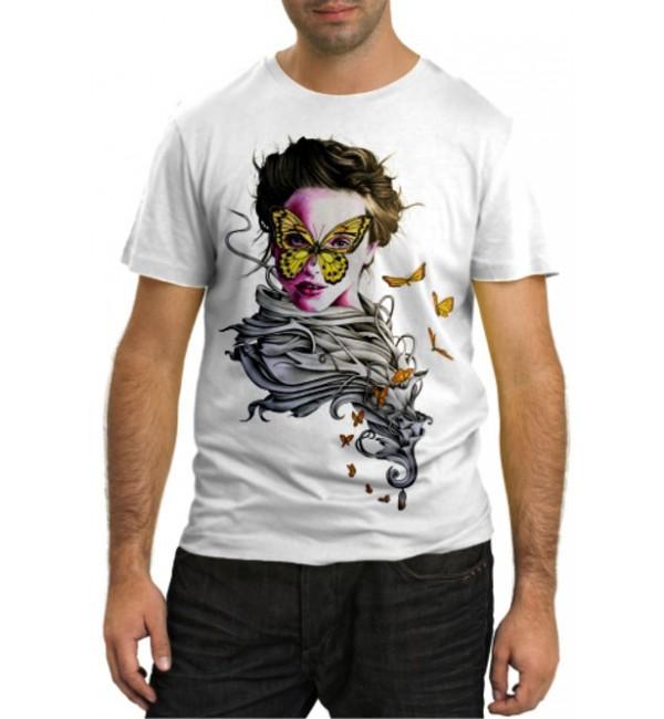 Модная футболка Девушка бабочка