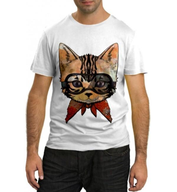 Модная футболка Котенок в очках