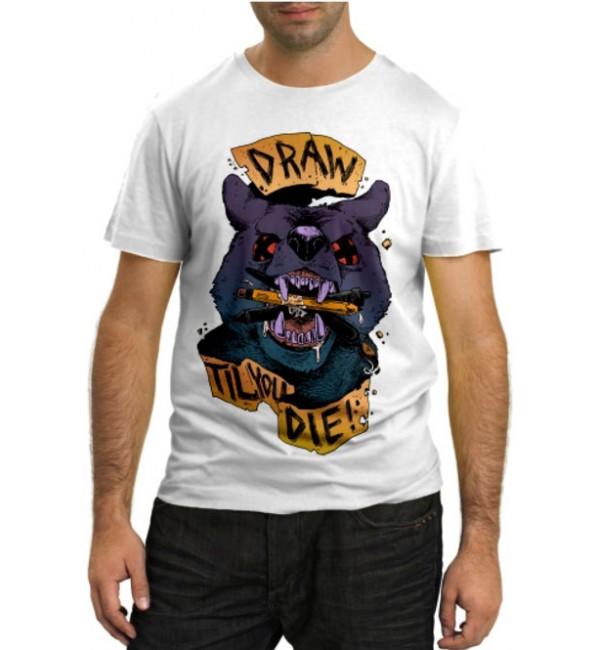 Модная футболка Draw til you die