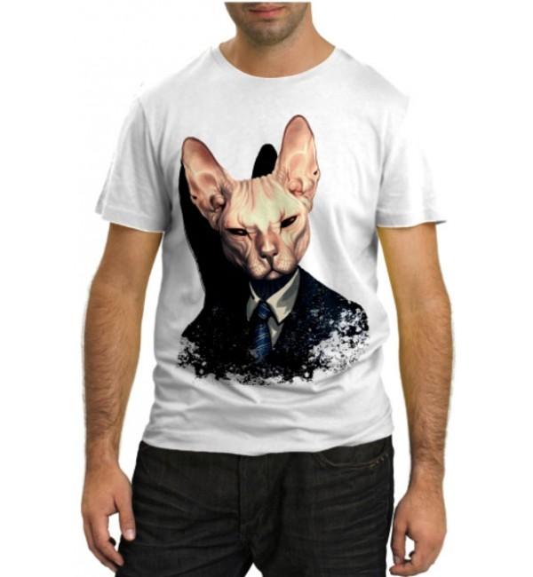 Модная футболка Кот сфинкс