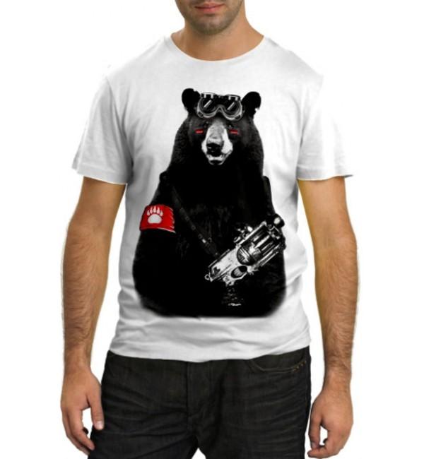 Модная футболка Медведь воин