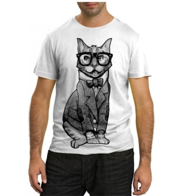 Модная футболка Кот интеллигент